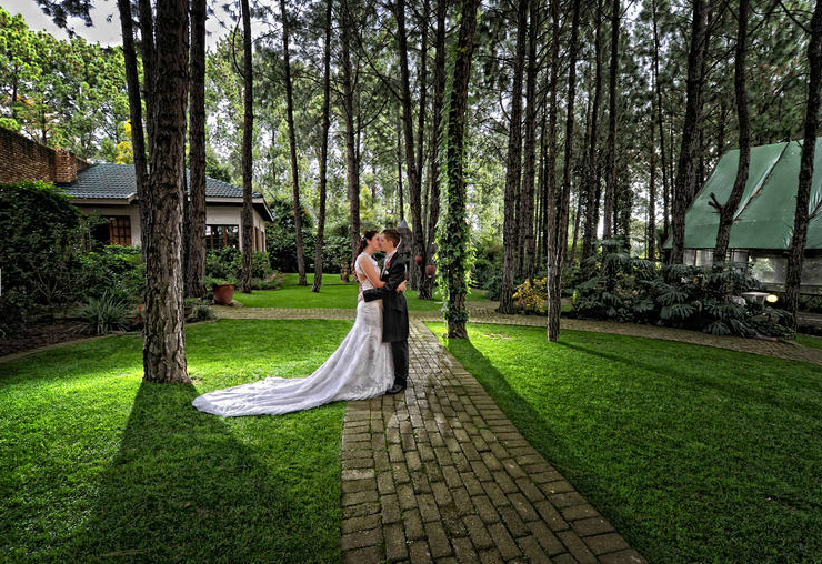 Forest walk wedding