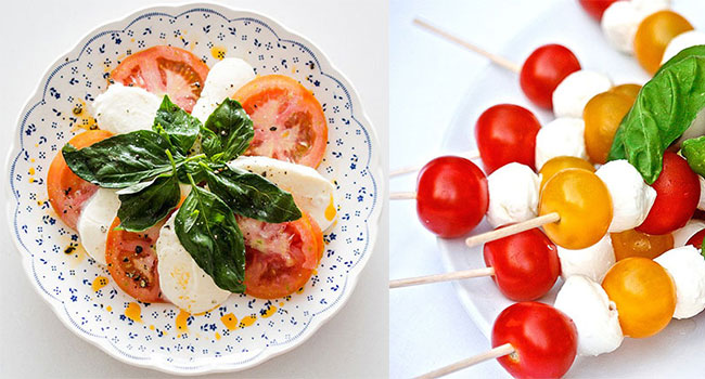 Summer Wedding Simple And Nutritious Also Italian Caprese Is Another Great Union Of Flavours Its Traditionally Served Just As A Starter