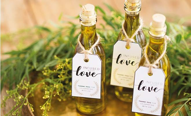 DIY + printable: Infused oil wedding favours - Wedding Album