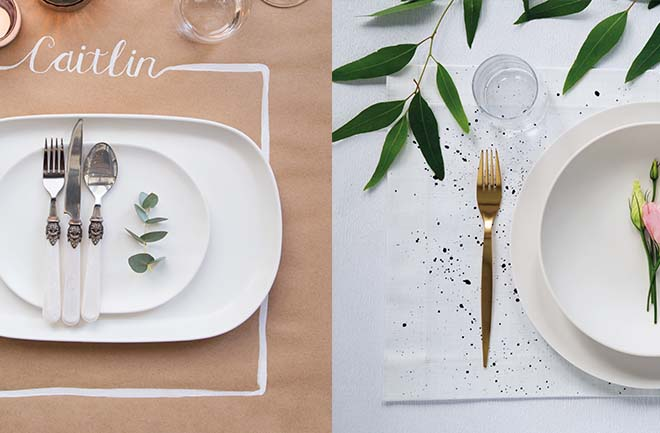 DIY: Paper and painted placemats