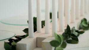 DIY candle table runner