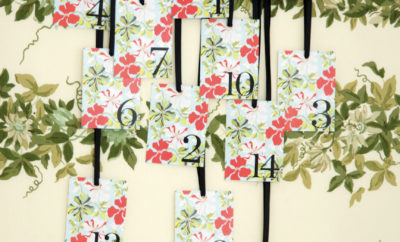DIY floral seating chart