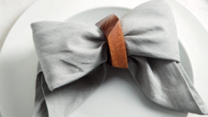 How to fold a linen napkin into a bow tie