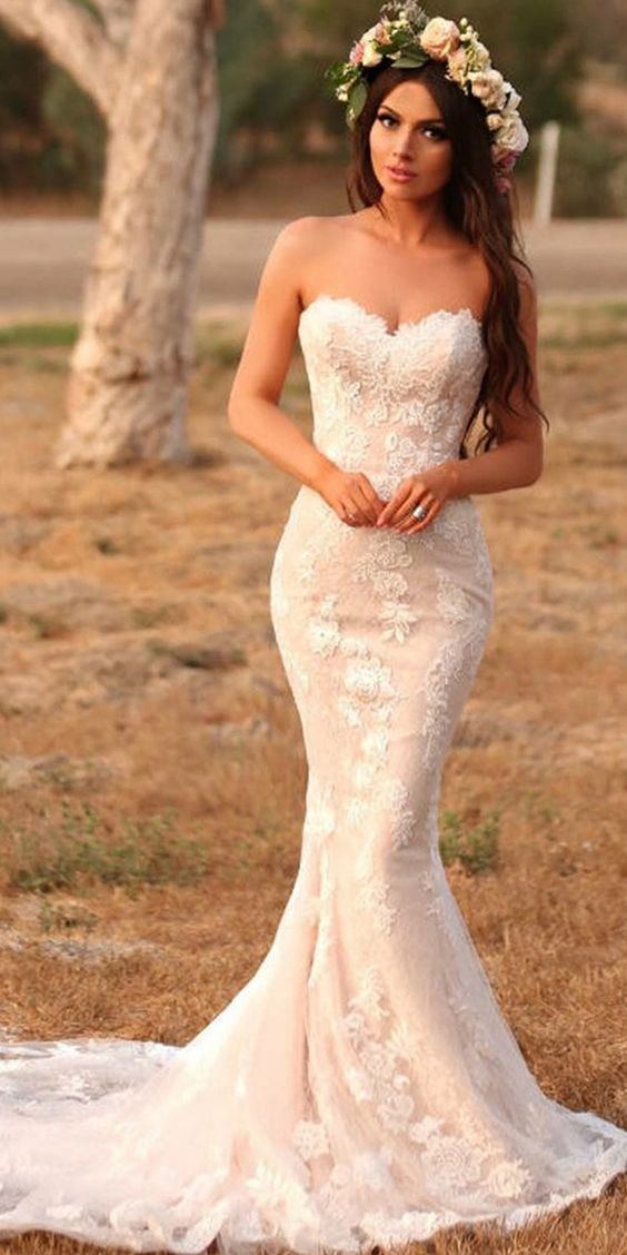 80d502ea3818 THE DRESS TYPES. Mermaid. This style is perfect for an hourglass shape as  it will accentuate your curves.