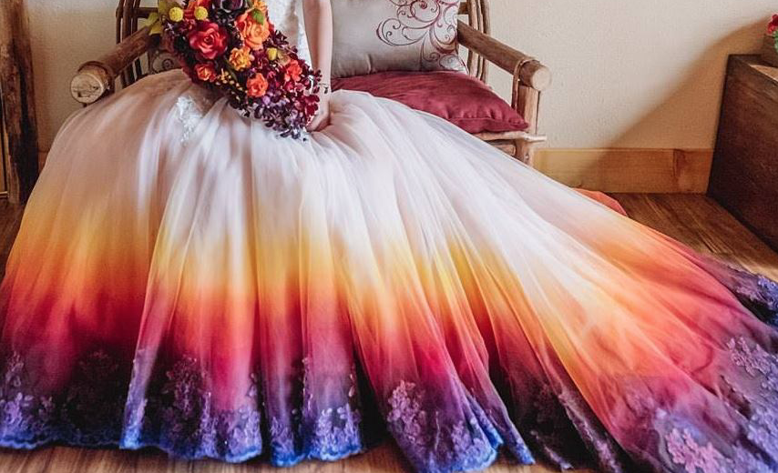 Wedding dresses to dip-dye for