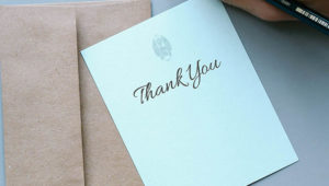 A brief guide to sending out thank you cards