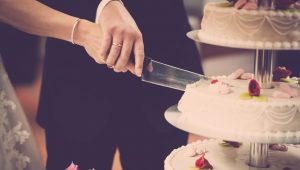 Not-so-traditional wedding cakes