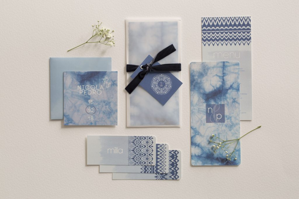 Wedding stationery with Directional Designs