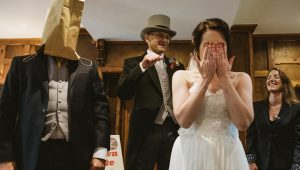Superfans throw Monty Python-themed wedding