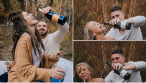 Pinterest-inspired engagement shoot fails hilariously