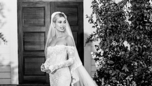 You need to see Hailey Bieber's wedding gown