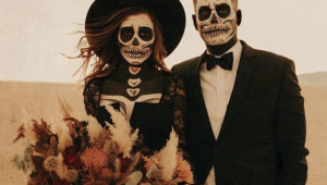 How to throw a Halloween-themed wedding