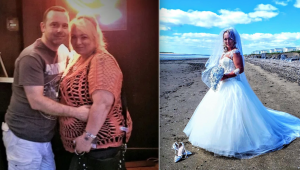 Bride stuns wedding guests with 63kg weight loss