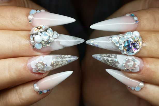 Bride transforms father's ashes into nails