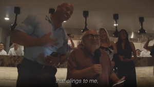 The Rock and Danny DeVito crash wedding in Mexico