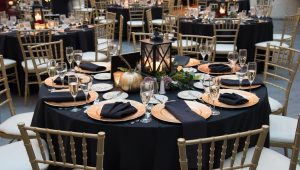 Art-deco inspired wedding decor