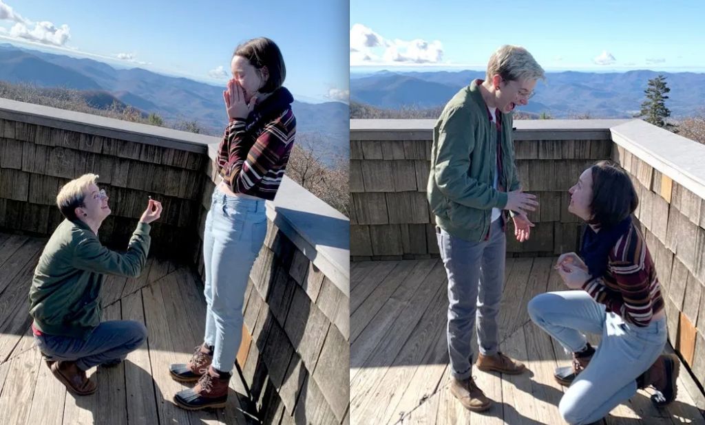 Couple propose to each other simultaneously