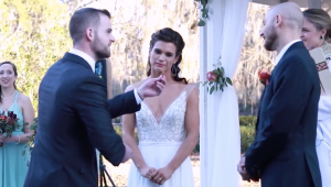 Newlyweds flip coin to pick last name