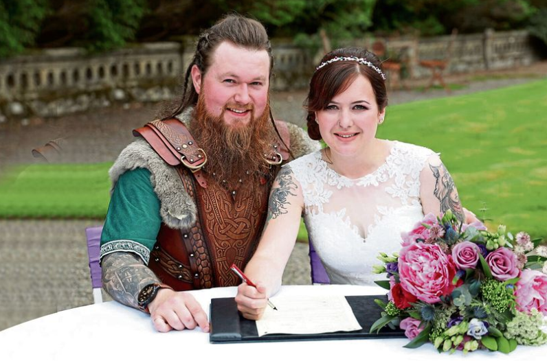 Modern-day Viking throws Norse-themed wedding
