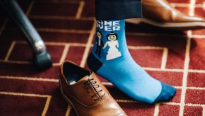 Rocking socks for the groom and his crew