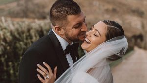 Demi-Leigh Nel-Peters and Tim Tebow tie the knot