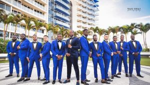 Bright suits for gorgeous gentlemen