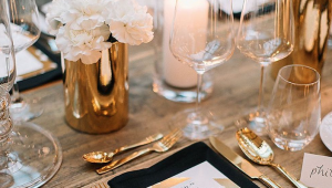 Decor trend: Gold and glass