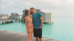 Demi-Leigh and Tim Tebow honeymoon in the Maldives