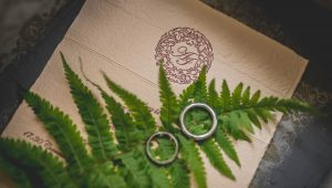 Botanical-inspired wedding invitations