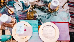 Ways to inject colour into your wedding decor