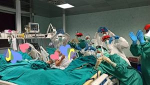 Italian couple spend 50th anniversary together in ICU