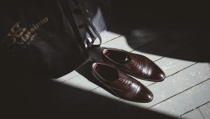 Groom's shoes fit for a king