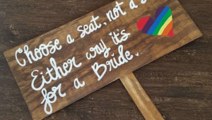 Simple ways to incorporate the Pride flag into your LGBTQIA+ wedding