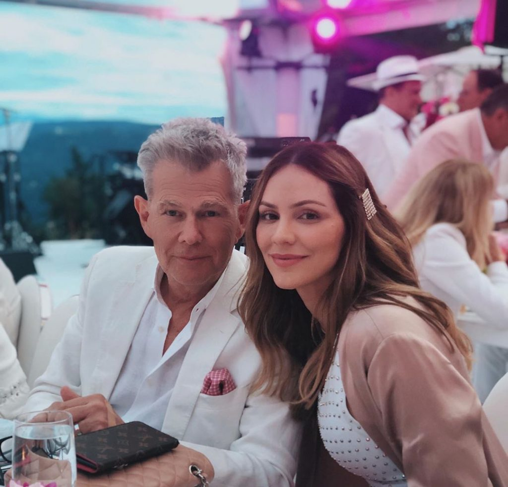 Katherine McPhee and David Foster celebrate first wedding anniversary