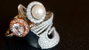 Pretty in pearl engagement rings