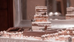 Never doubt the naked wedding cake
