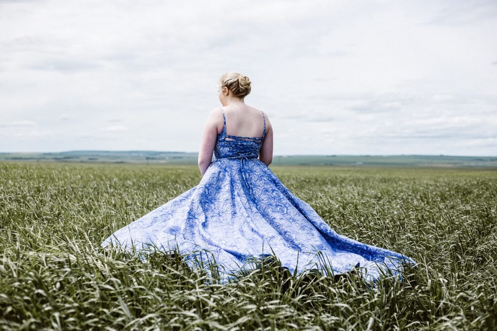 Colourful wedding dresses for your 'something blue'