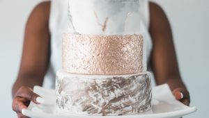 Absolutely amazing abstract wedding cakes