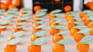 Seat and eat: Food-inspired escort cards