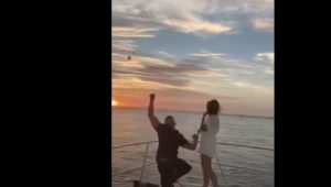 Engagement ring accidentally thrown overboard during proposal