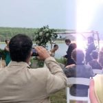 Lightning strikes as groom jokes about 2020 during vows