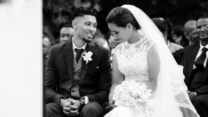 Going for gold: Wayde van Niekerk's wedding