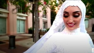 Beirut explosion caught on camera as bride poses for wedding film