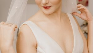 show some skin in these daring low-cut wedding gowns