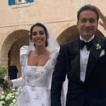 Lebanese beauty queen holds wedding amid lockdown
