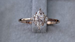 Magnificent marquise shaped engagement rings