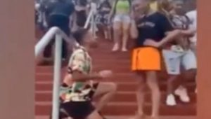Sweet double proposal at theme park goes viral