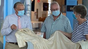 Life-saving wedding dress made from parachute now on display in museum