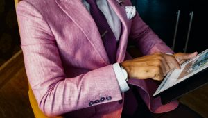 Pastel suits for the daring groom