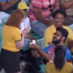 Sweet marriage proposal bowls fans over during Cricket match